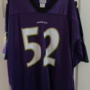 Reebok men's XL Baltimore Ravens Ray Lewis Jersey